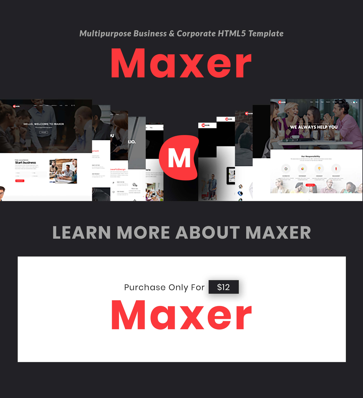 Maxer - Multipurpose Business & Corporate HTML5 Template - 1